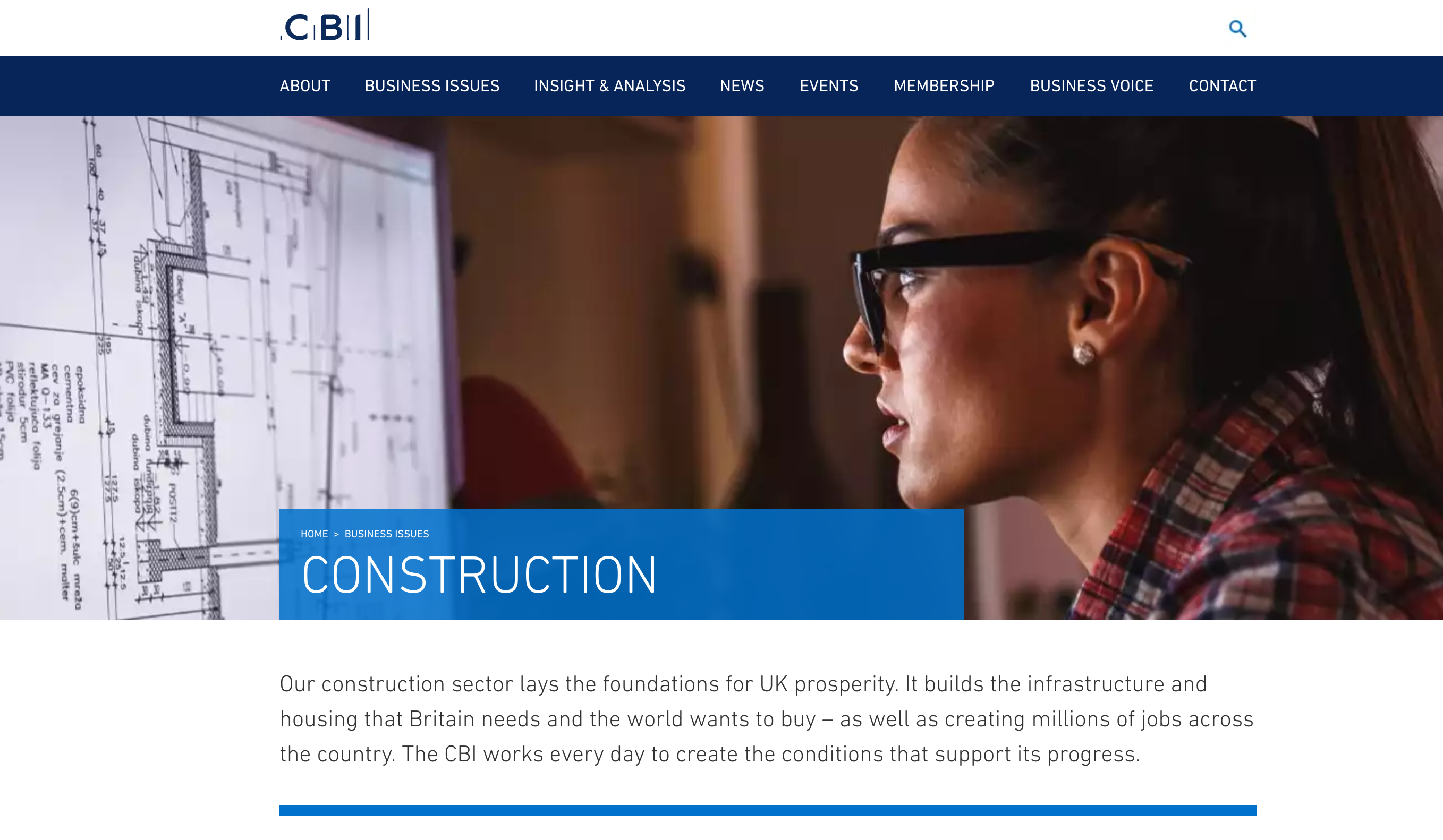 CBI: 50 years of influence in the construction sector of UK