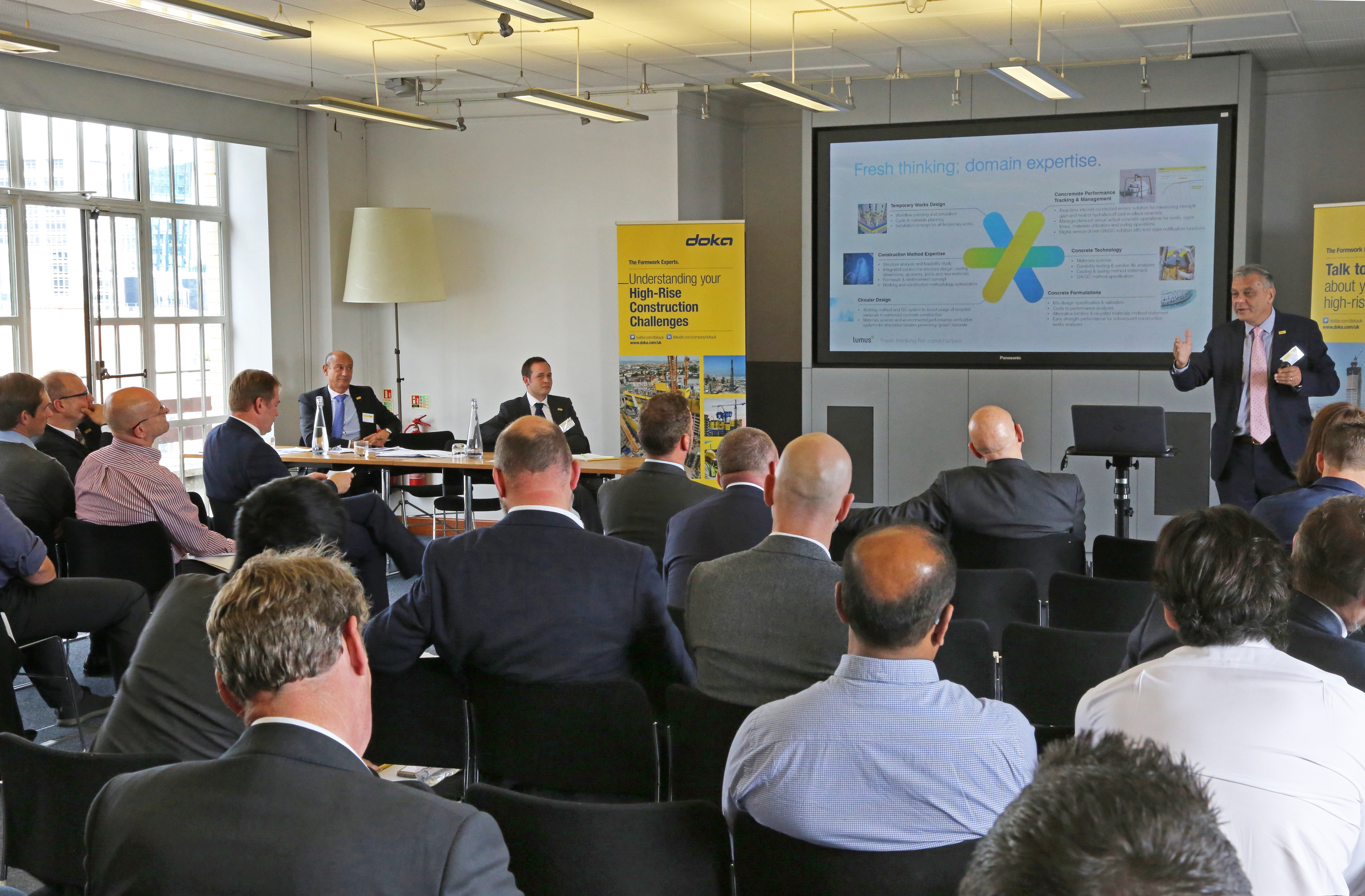 "Doka informs pre-construction stakeholders how to ""build higher, faster and safer"" at the UK's first seminar"