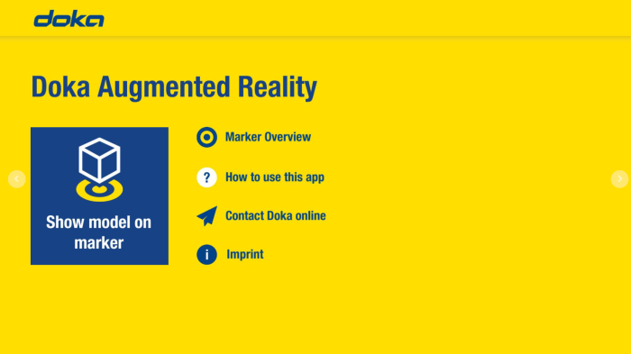 Doka Augmented Reality APP